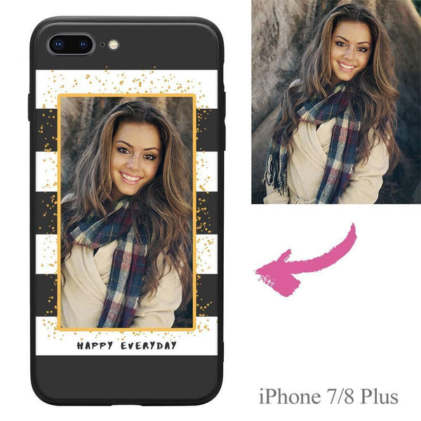 "iPhone7p/8p Custom ""Happy Everyday"" Photo Protective Phone Case"