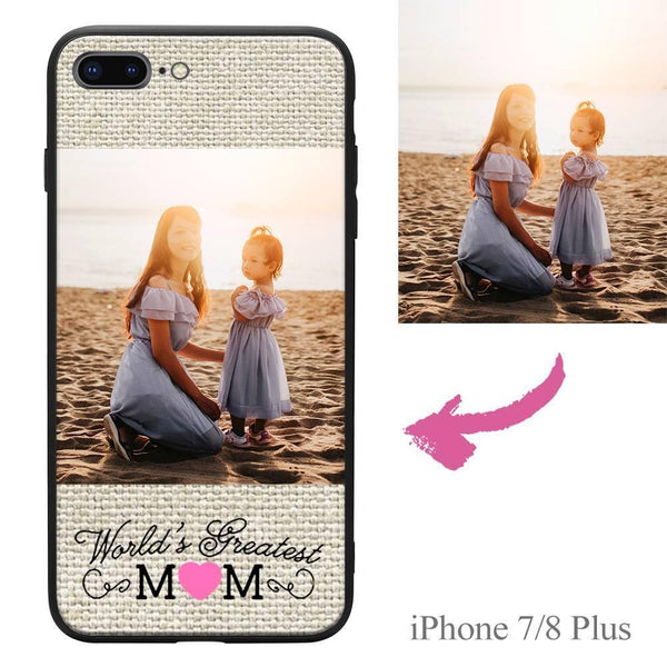 "iPhone7p/8p Custom ""Mom"" Photo Protective Phone Case"