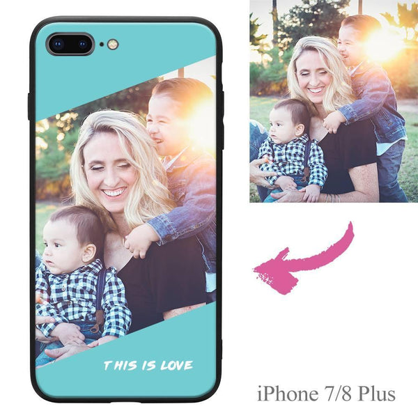 "iPhone7p/8p Custom ""This Is Love"" Photo Protective Phone Case"