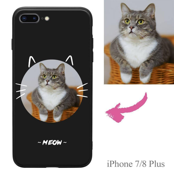 iPhone7p/8p Custom Cat Photo Protective Phone Case