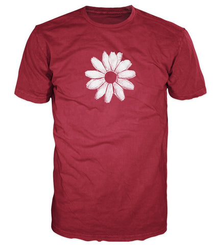 Daisy T-shirt with ABC backprint, Cherry Red
