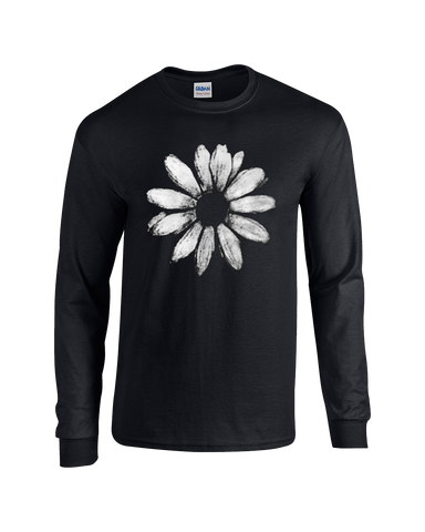 Daisy T-Shirt, Black, Long Sleeve with ABC back print