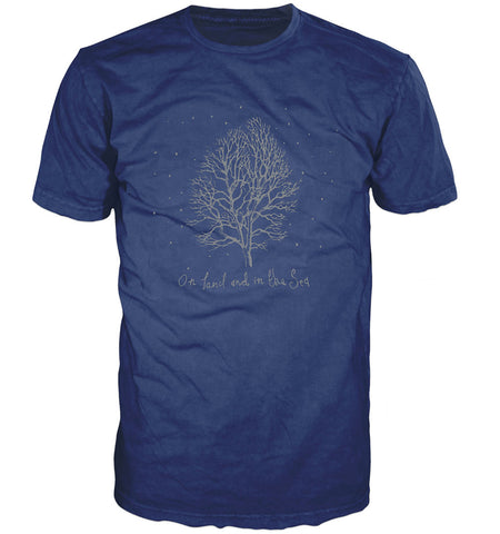 On Land and in the Sea t-shirt, blue