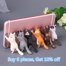 Load image into Gallery viewer, Cute Cat Support Resin Mobile Phone Holder Stand - All The Buys