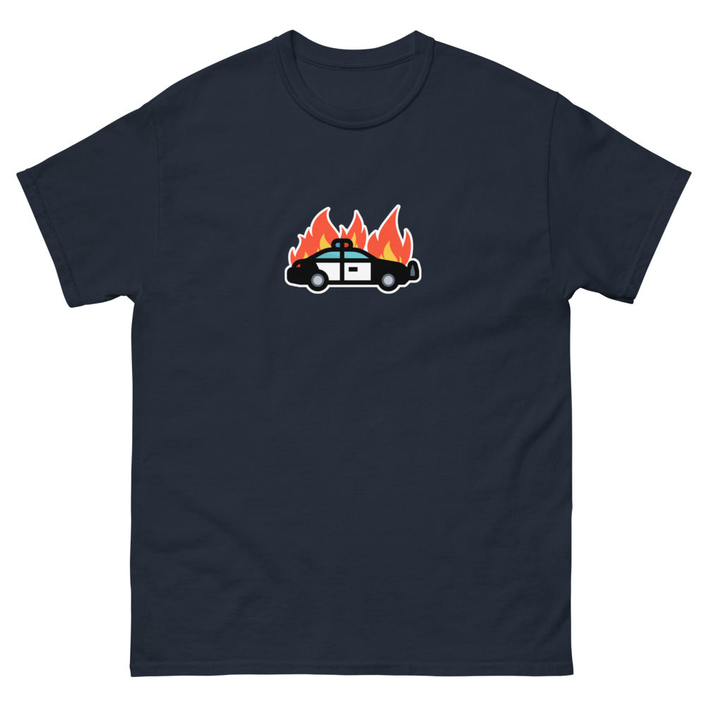Car on fire Men's heavyweight tee