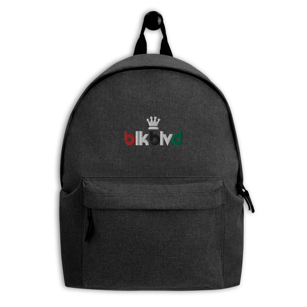 BLVD Crown Embroidered Backpack