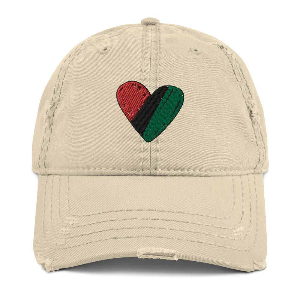 RBG Heart Distressed Dad Hat