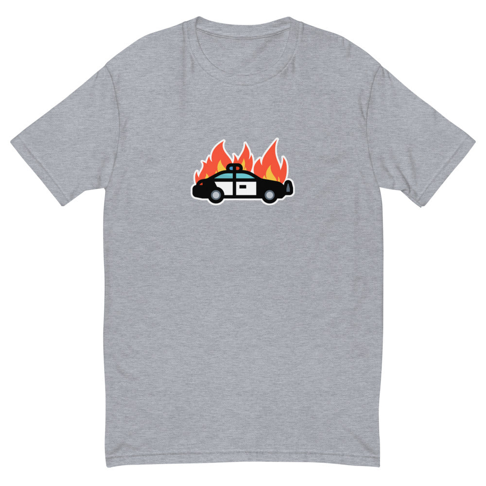 Car on fire Short Sleeve T-shirt