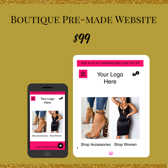 Pre-Made Boutique Website 01
