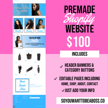 Load image into Gallery viewer, Doll House Pre-Made Website (Shopify) - Dime Diva Branding