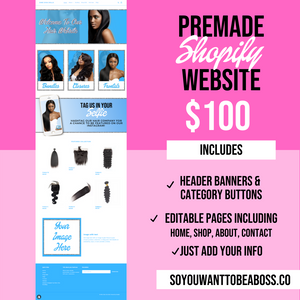 Doll House Pre-Made Website (Shopify)