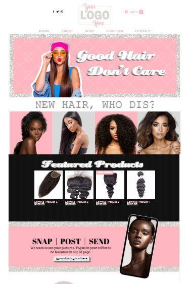 Wix (Good Hair) Pre-made website