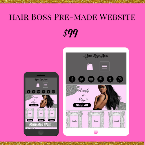 Pre-Made Hair Boss Wix Website 01