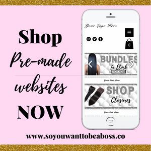 Pearl and shine Pre-Made hair website WIX