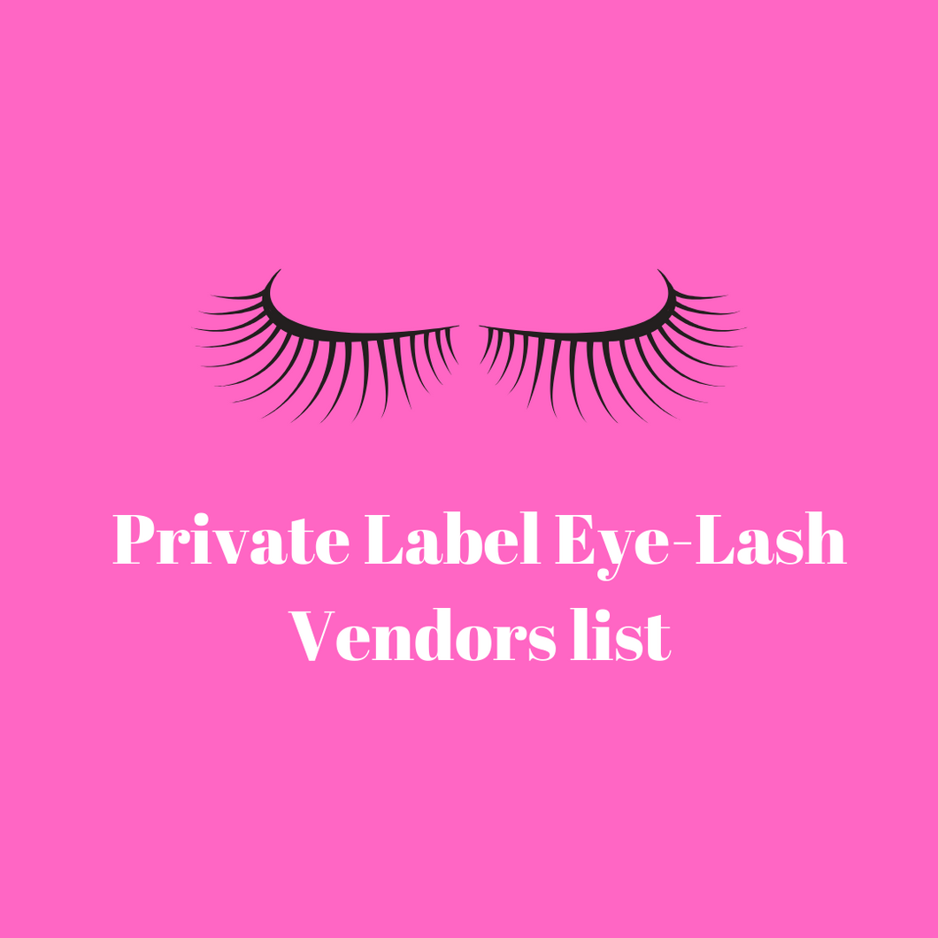 Lash Vendors List