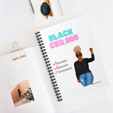 Load image into Gallery viewer, Black CEO Spiral Notebook - Ruled Line - Dime Diva Branding