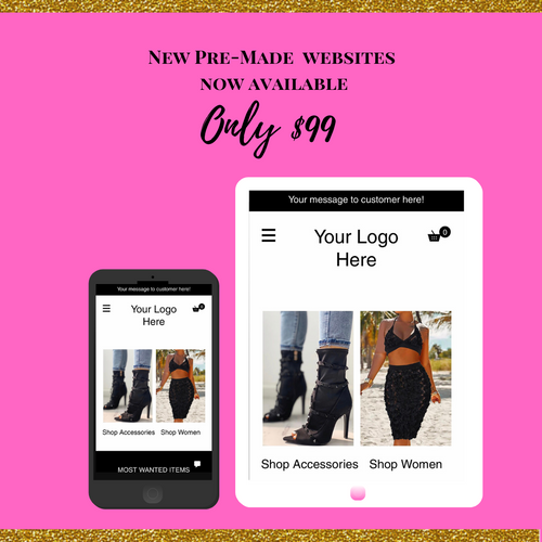 Pre-Made Boutique Website 02 WIX