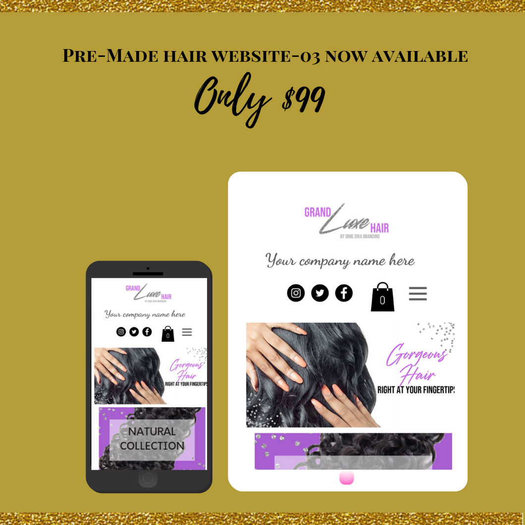 Pre-Made Hair Wix Website 03