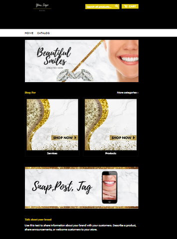 Pre-Made Teeth Whitening Shopify Website