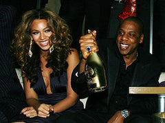 Jay z and Beyonce drink Armand de Brignac Champagne