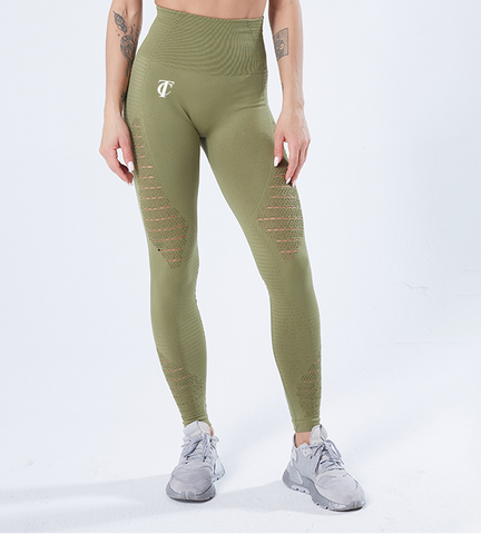 Leggings vert Taylor Clarks beauty performance