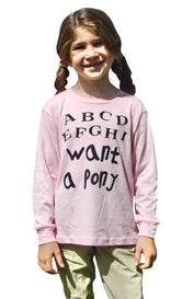 EQUO ABCD.. I Want a Pony - Long Sleeve Tee - Kid's