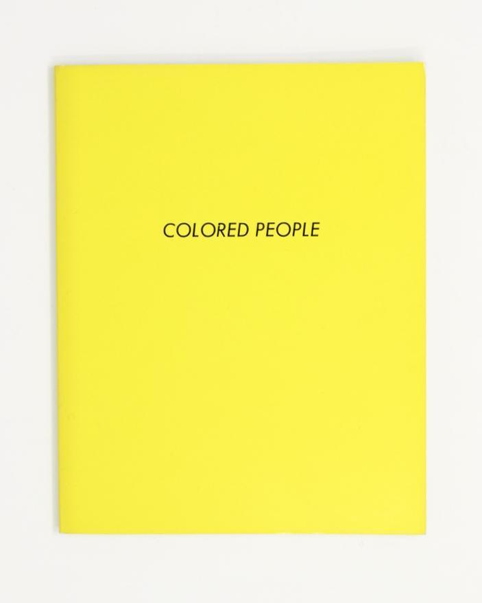 COLORED PEOPLE BY ED RUSCHA