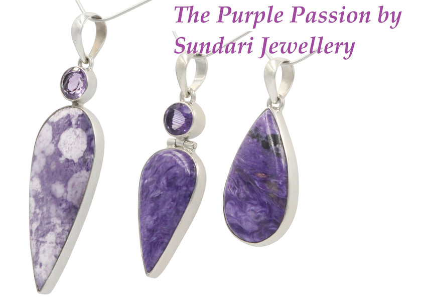 Purple Passion with a stunning Tiffany and Amethyst Stone.