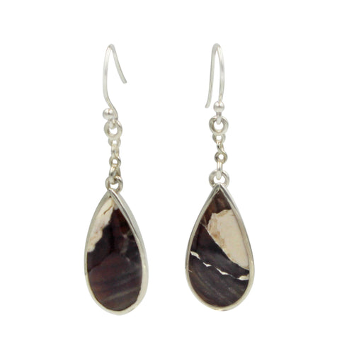Teardrop shaped Peanut Wood Jasper Earring