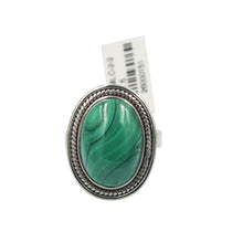Load image into Gallery viewer, Malachite Statement Sterling Silver Ring