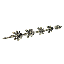 Load image into Gallery viewer, Marcasite Petals Brooch