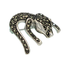 Load image into Gallery viewer, Sterling silver creative piece of brooch of an imaginary lizard.