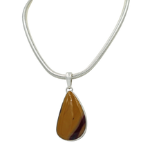 Load image into Gallery viewer, Mookaite statement Pendant in open back bazel setting