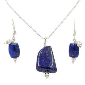 Lapis Lazuli Necklace and Earrings by Sundari Jewellery