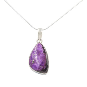 Sugilite Stone Pendant with its natural shape