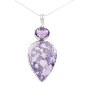 Amethyst and Tiffany Stone Pendant