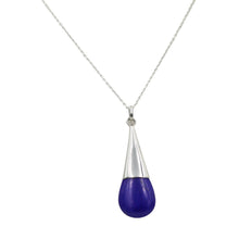 Load image into Gallery viewer, Lapis Lazuli Cone Shaped Sterling Silver Pendant
