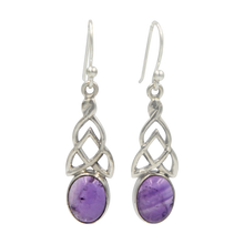 Load image into Gallery viewer, Aesthetic Celtic earrings in Amethyst
