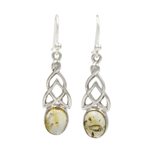 Load image into Gallery viewer, Aesthetic Celtic earrings in Citrine