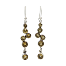 Load image into Gallery viewer, A modern and elegant multi stone Earring.