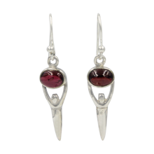 Load image into Gallery viewer, Beautifully handcrafted sterling silver drop earring accent with a cabochon gemstone