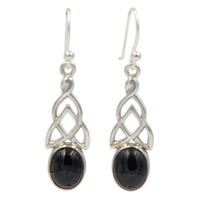 Load image into Gallery viewer, Aesthetic Celtic earrings in Black Onyx
