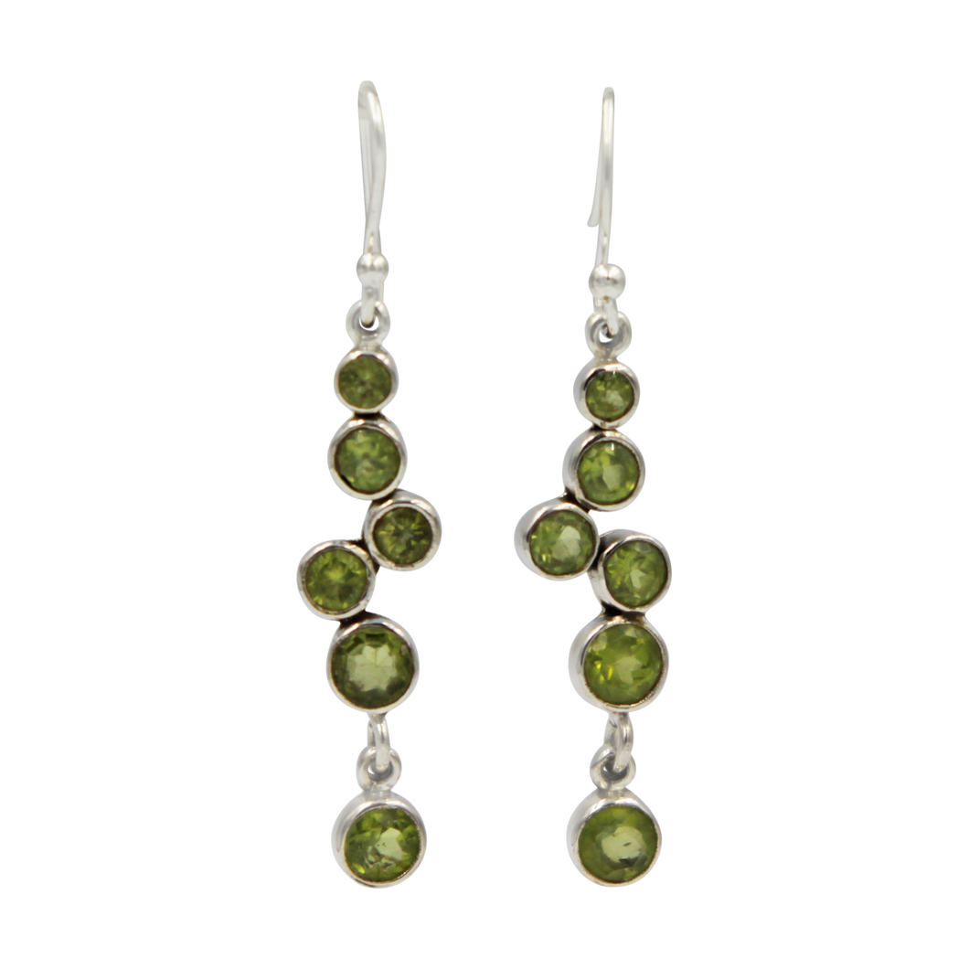 A modern and elegant multi stone Earring.