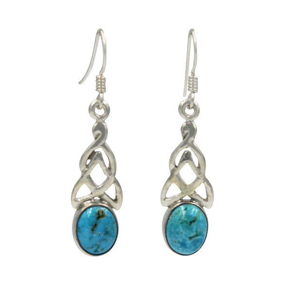 Celtic earrings in Turquoise