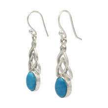 Load image into Gallery viewer, Aesthetic Celtic earrings in Turquoise