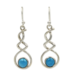 Triple Infinity gem-set earring
