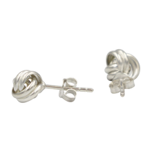 Load image into Gallery viewer, Plain Silver Two Wire Love Knot Stud Earring
