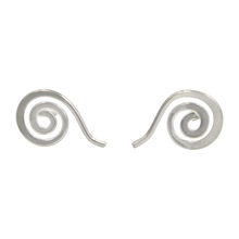 Load image into Gallery viewer, Plain Silver Whirlpool Stud Earring