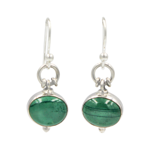 Oval Shaped simple but elegant earring with a cabochon stone