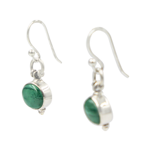 Load image into Gallery viewer, Oval Shaped simple but elegant earring with a cabochon stone